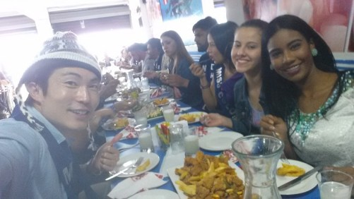 having lunch with beauty pageant friends modeling contest