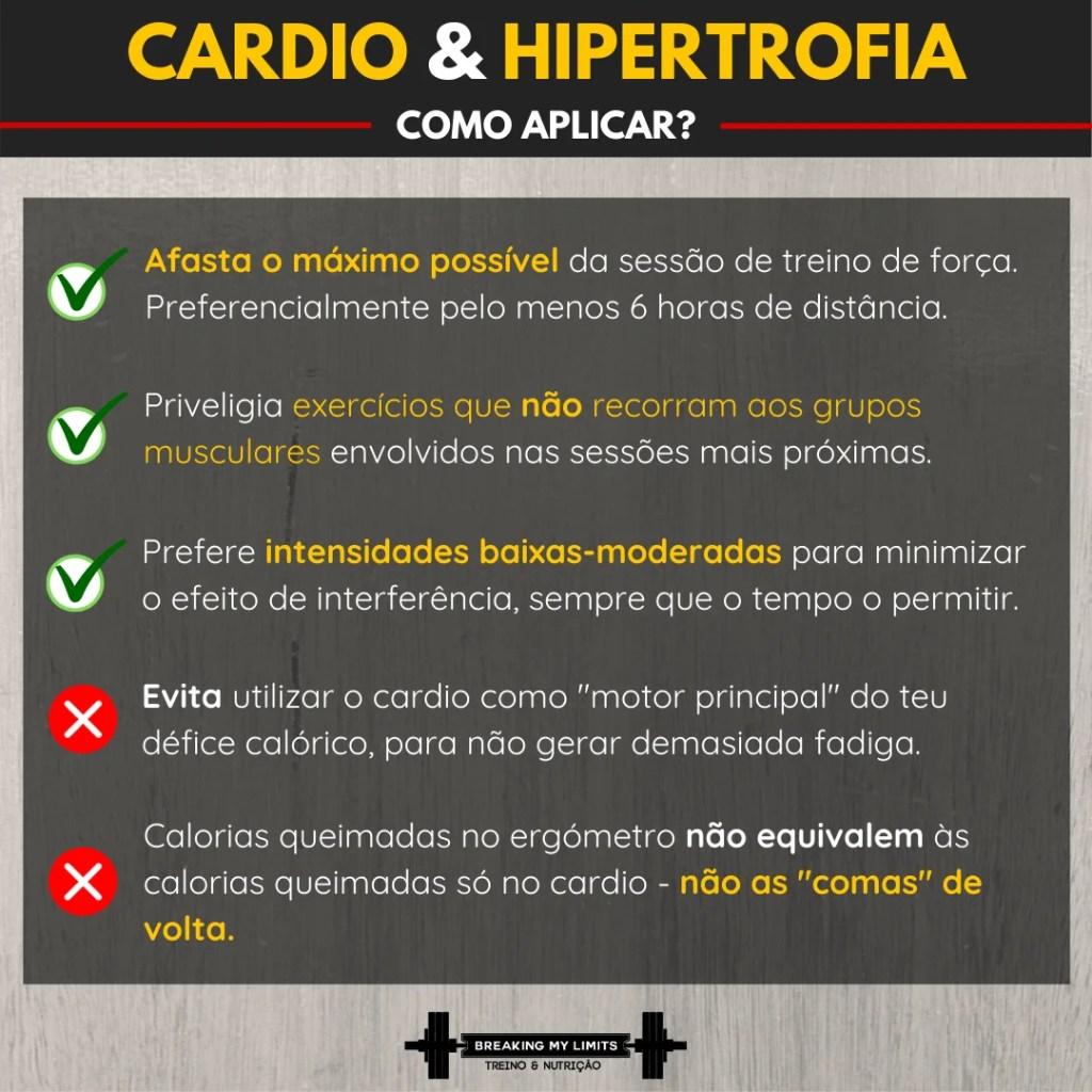 como implementar o cardio antes ou depois do treino de hipertrofia