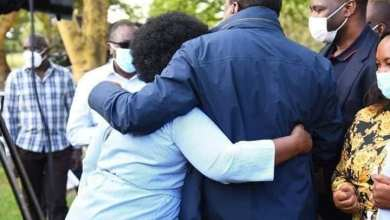 Photo of Ceasefire, President Kenyatta In a Warm Embrace With Millie Odhiambo – Photos