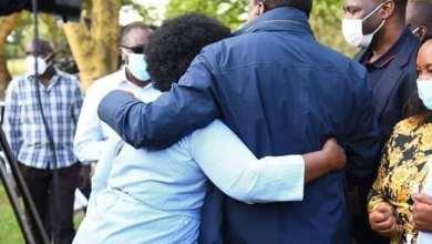 Photo of Ceasefire, President Kenyatta In a Warm Embrace With Millie Odhiambo – Photos