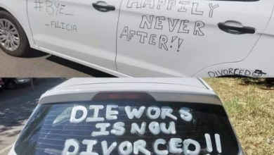 """Photo of """"Marriage Over…Party Started"""" Man Defaces His Car To Joyfully Celebrate His Divorce"""
