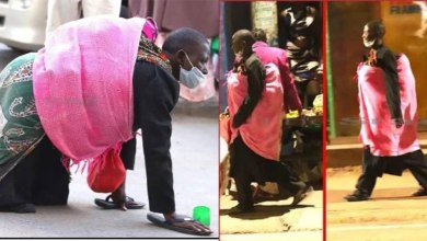 Photo of Shock As Fake Nairobi Beggar Is Pictured Walking After Acting Crippled(Photos)