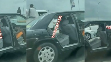 Photo of Viral video of door-less car speeding on a busy road sparks debate