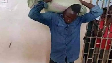 Photo of Thief Surrenders Himself To Police After Sack Of Maize He Stole Stuck On His Back