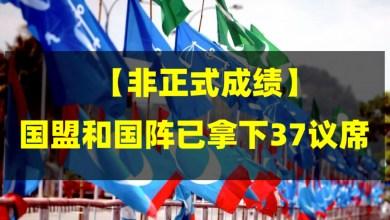 Photo of 【非正式成绩】国盟和国阵已拿下37议席