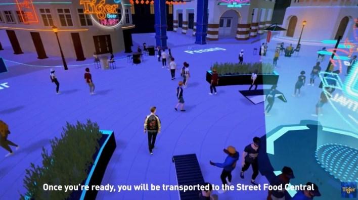 用户会率先来到街头美食中心(Street Food Central) 。在这里,他们能与其他用户互动交流、参加有奖游戏、了解必尝美食以及查找Drinkies欢乐时光促销详情。Drinkies是马来西亚喜力有限公司的啤酒外送服务平台。