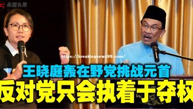 Photo of 马华王晓庭轰在野党挑战元首 反对党只会执着于夺权