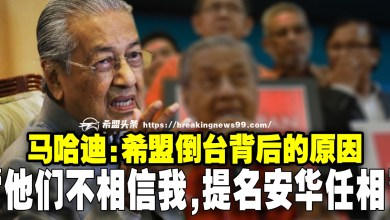 "Photo of 马哈迪:希盟倒台背后的原因 ""他们不相信我,提名安华任相"""