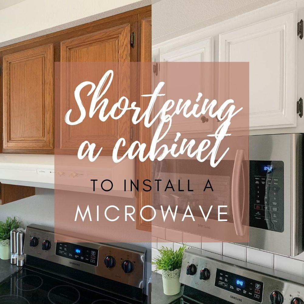 shortening a kitchen cabinet breaking