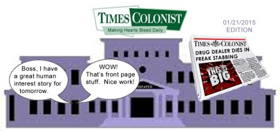 times colonist CARTOON bleeding heart
