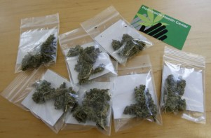 baggies of weed