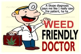 Skype doctor allowed by Lisa Helps, cartoon by Hal Hannon