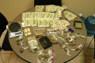 Money and drugs seized