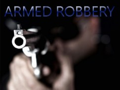 Robber with gun