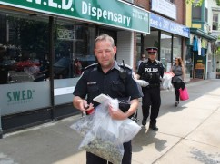 Police Closing Pot Shop