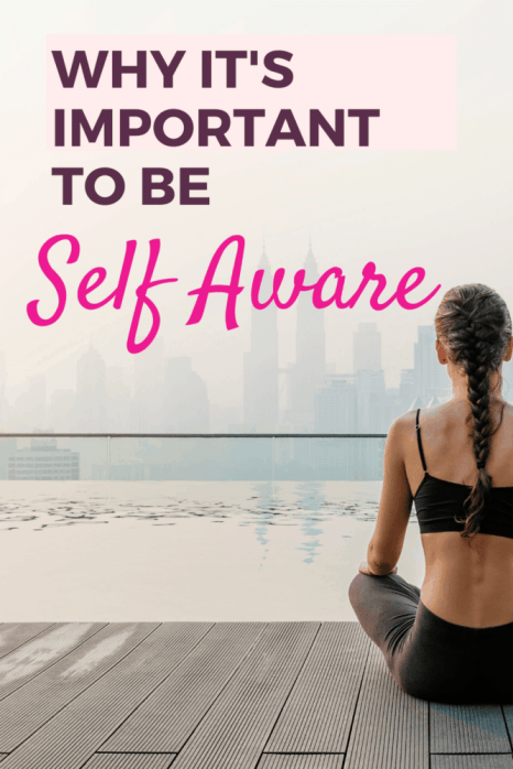 Why It's Important to be Self aware Pin-woman meditating near water