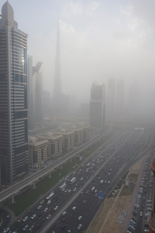 The ever so tall Burj khalifa and Sheikh Zayed Road