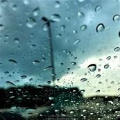 Raindrops on car's wind screen <3