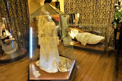 This is the wedding dress of Constance (3rd wife of William Larnach)