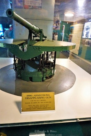 They were offering tours of this disappearing gun too, we were least interested in it... lol
