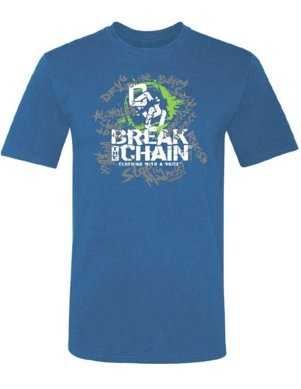 Break the Chain's Logo Blue T-Shirt