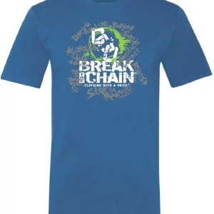 Break the Chain's Logo Blue T-Shirt