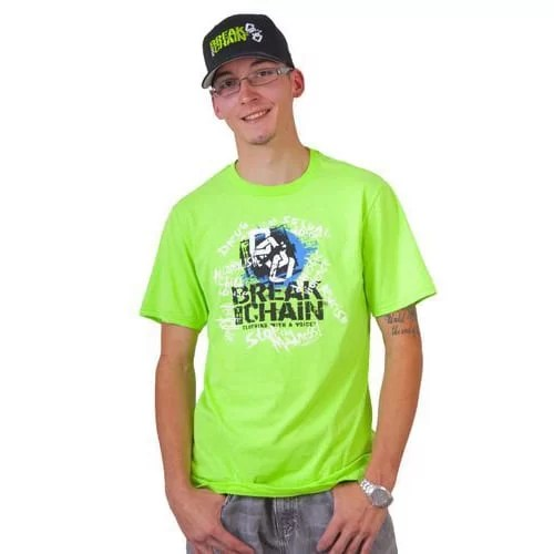 Break the Chain's Logo Lime Green T-Shirt and Hat