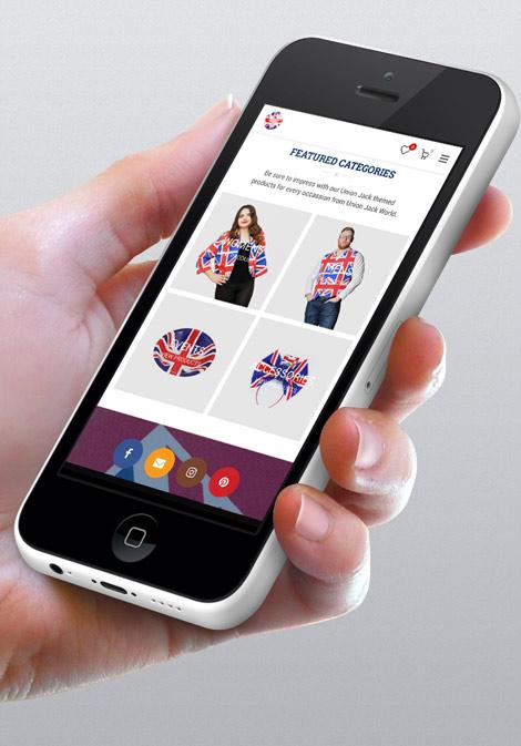 Union Jack World web design and logo client