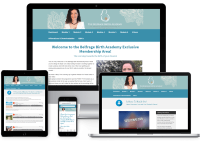 Belfrage Birth Academy Membership Site