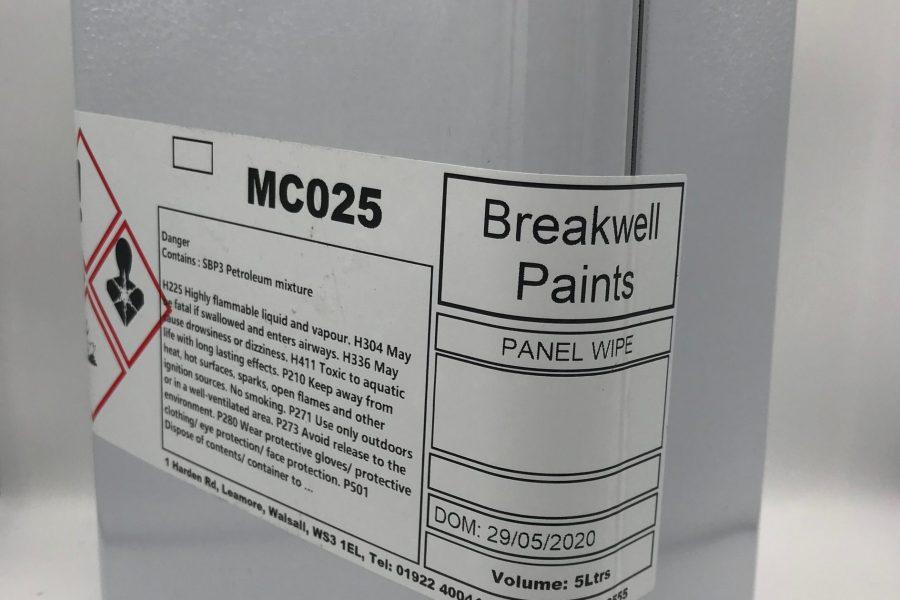 Panel wipe
