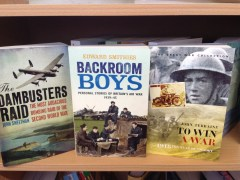 The Dambusters Raid by John Sweetman, Backroom Boys by Edward Smithies, To Win a War by John Terraine