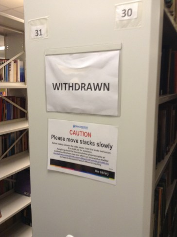 The Withdrawn books are kept here