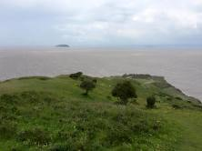 The view to Steep Holm from the top of Brean Down