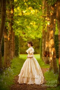 victorian-woman-standing-in-an-avenue-of-trees-lee-avison