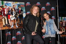 """NEW YORK, NY - MARCH 14: Tony Cavalero and Breanna Yde promote thier New Nickelodeon TV Series (based on the film)""""School of Rock"""" at Planet Hollywood Times Square on March 14, 2016 in New York City. (Photo by Bruce Glikas/Bruce Glikas/FilmMagic) *** Local Caption *** Breanna Yde; Tony Cavalero"""