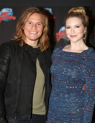 """NEW YORK, NY - MARCH 14: Tony Cavalero poses with his wife as he promotes his New Nickelodeon TV Series (based on the film)""""School of Rock"""" at Planet Hollywood Times Square on March 14, 2016 in New York City. (Photo by Bruce Glikas/Bruce Glikas/FilmMagic) *** Local Caption *** Tony Cavalero"""