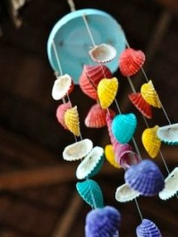 Painted Seashell Wind Chime
