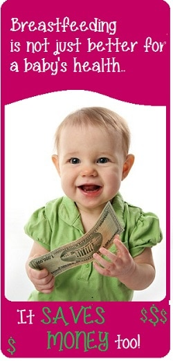 Breastfeeding Saves Money  Cost of Breastfeeding vs Formula Feeding