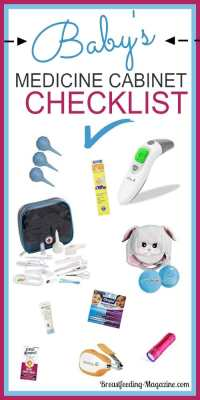 Babys Medicine Cabinet Checklist for New Moms and Moms to Be