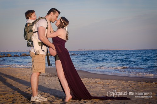 Us during our Maternity photo session with Alegares Photography