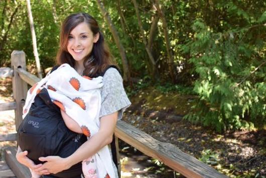 Breastfeeding while babywearing at the Oregon Zoo.