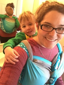 toddler wearing, babywearing, back carry, back ruck, wrapsody, breastfeeding world, blogger, mommy blogger, babywearing blogger, lauren lewis, giveaway,