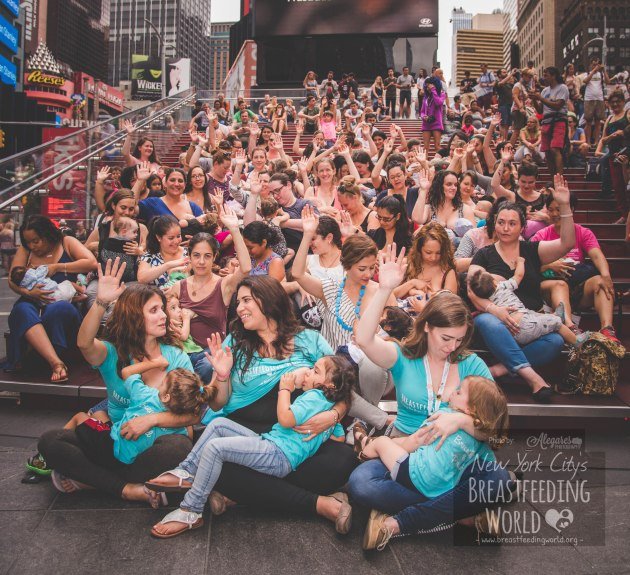 2017 NYC Big Latch On, Times Square Big Latch On, Latch On 2017, Times Square Breastfeeding,