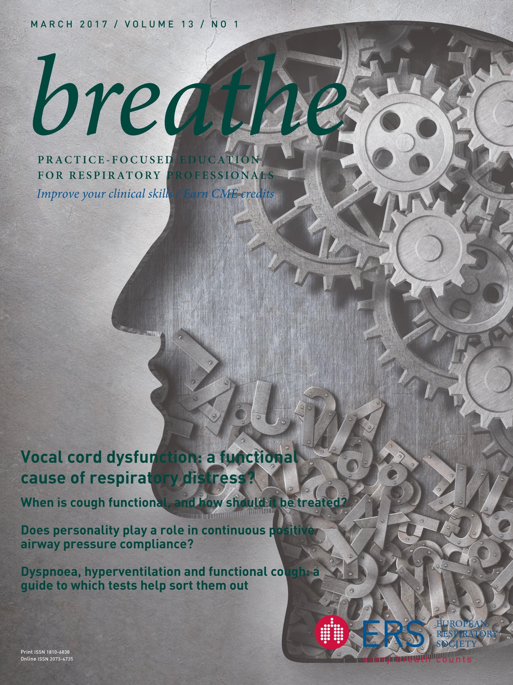 Confidences de Salon  European Respiratory Society