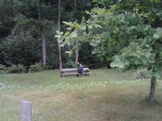 Shariah at the camping site in Latvia
