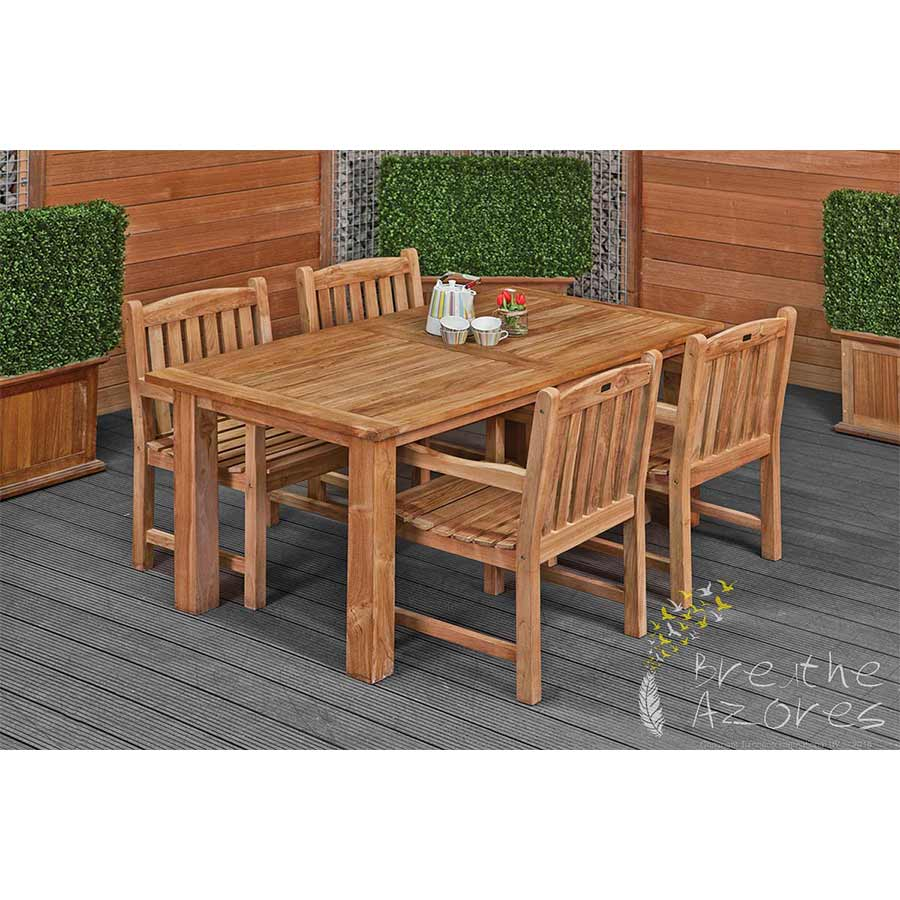 Teak Dining Room Chairs Modern Teak Dining Set Table And 4 Chairs