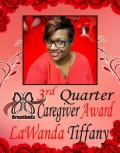 Caregiver Award 3rd Quarter
