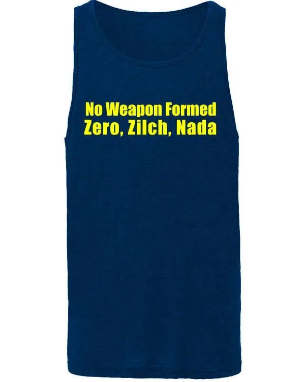 No Weapon Formed - Zero, Zilch, Nada