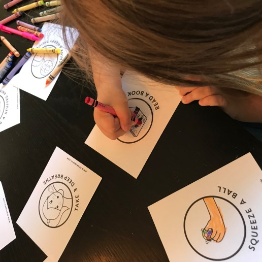 Coloring our Calming Strategies and getting creative with it.