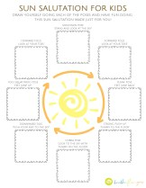 Sun Salutation for Kids Coloring Sheet